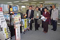 左から、河治民夫、白井正子、大貫憲夫、関美恵子、中島文雄の各市会議員