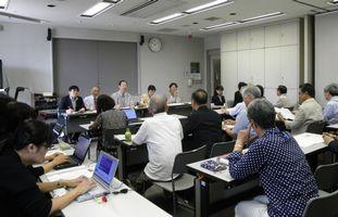 横浜市身体障害者団体連絡会と懇談する日本共産党横浜市議団