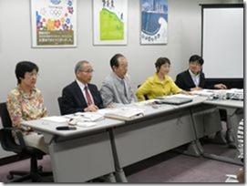 左から、あらき由美子、岩崎ひろし、大貫憲夫、白井まさ子、古谷やすひこの各市議