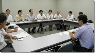 南関東防衛局で申し入れを行う日本共産党横浜市議団等