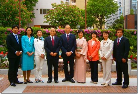 日本共産党横浜市議団の9人の議員