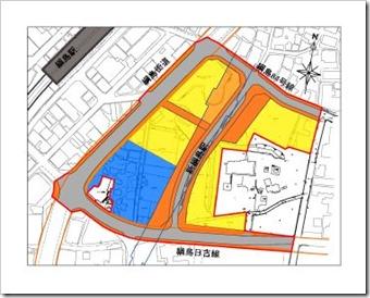 スライド1(新綱島駅周辺地区まちづくり・区画整理の図)