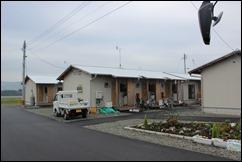 木造の仮設住宅